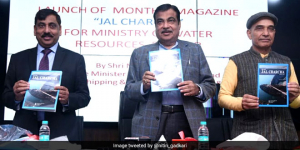 Minister Nitin Gadkari Highlights The Importance Of Water Conservation At The Launch Of Magazine 'Jal Charcha'