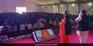 Swachh Kumbh: Union Minister Uma Bharti Addresses Swachhagrahi Sammelan, Reviews Sanitation Arrangements In Prayagraj