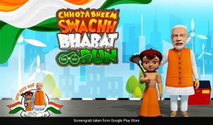Chhota Bheem Wields The Broom To Encourage Children To Adopt The Swachh India Agenda
