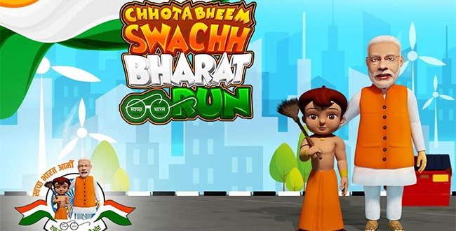 Chhota Bheem Dons Wields The Broom To Encourage Children To Adopt The Swachh India Agenda