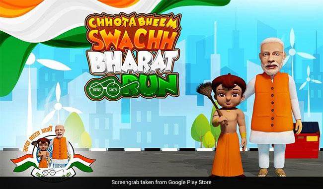 Chhota Bheem Wields The Broom To Encourage Children To Adopt