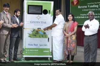 500 reverse plastic vending machine will be installed in Tamil Nadu by end of this year