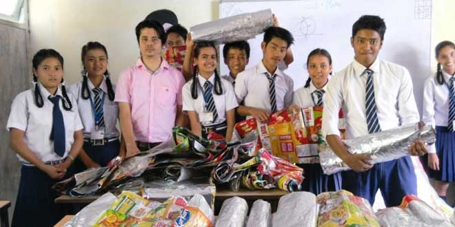 34-year-old Lomas Dhungel, a school teacher, has sponsored education of five children