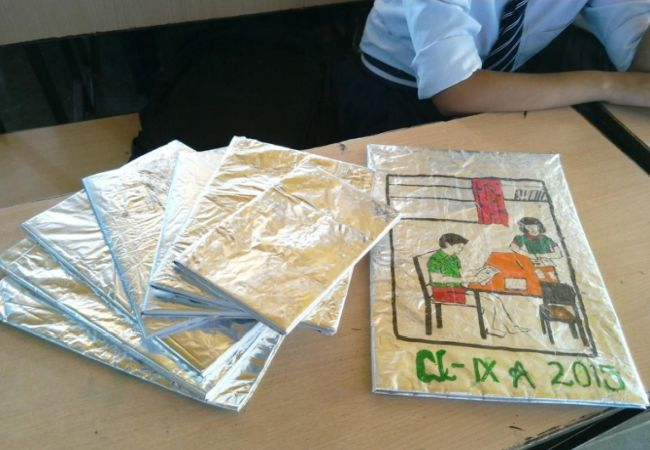 All the book covers have been sold to schools from neighbouring villages.