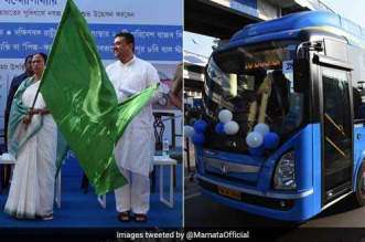 Kolkata On Zero-Emission Pathway, CM Mamata Banerjee Flags Off 20 Electric Buses In The City, 60 More To Ply On Roads Soon
