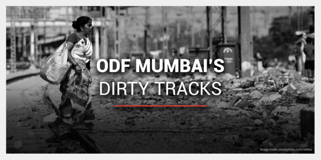 18 months after Mumbai was declared Open Defecation Free, people continue to defecate on railway tracks