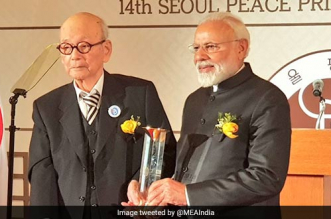 PM Modi Awarded Seoul Peace Prize, Donates Prize Money To Namami Gange Fund