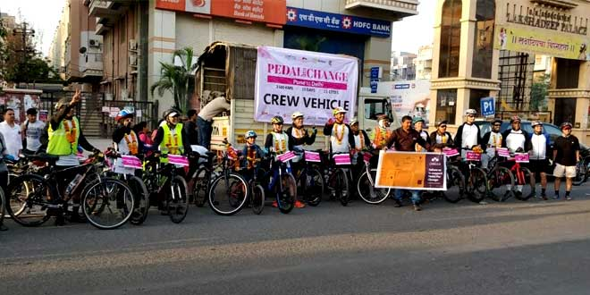 #Pedalforchange: 19 Cyclist From Pune Travel For 1500 Km To Raise Awareness About Risks Of Vehicular Emissions