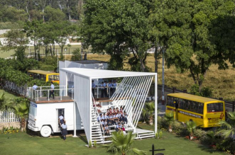 This 20-Year-Old Upcycled School Bus Is An Inspiration For A Sustainable Future