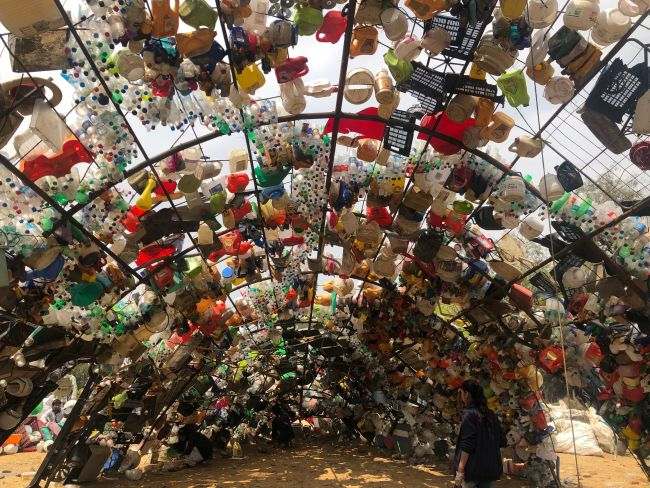 Welcome To Wazirabad Bundh! In Gurgaon, Art Installations Made From Plastic Waste Invite Attention To Waste Problem