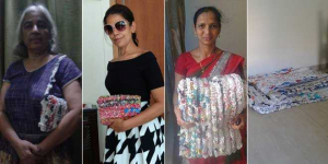 This 66-year-old Mumbai Woman Is Saving The Environment By Upcycling One Plastic Bag At A Time