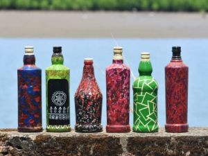 'Recycling Is The Future', Lessons From Mangaluru Artist Who Turns Discarded Bottles Into Beautiful Art Pieces
