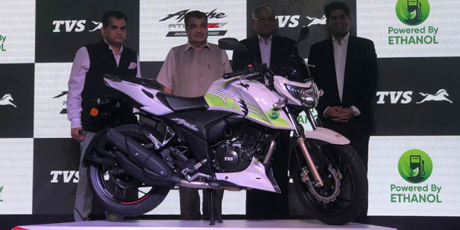 To Promote Green Mobility, TVS Launches India's First Ethanol-Based Motorcycle