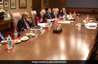 A Tweet From Anand Mahindra Led Him To A Big Decision To Ban Plastic Bottles From Boardrooms. Here's What Happened