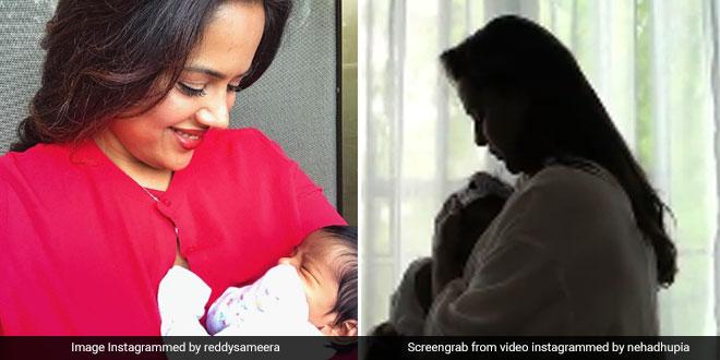 World Breastfeeding Week 2019: Actor Neha Dhupia, Sameera Reddy Spread Awareness About Breastfeeding