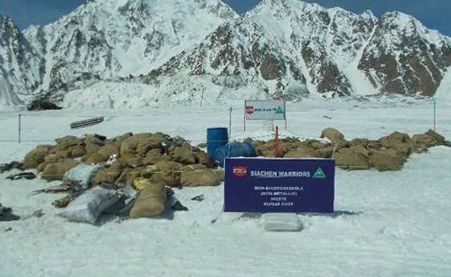 Army Removes 130 Tonnes Of Solid Waste From Siachen Glacier