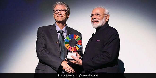 PM Modi Receives Global Goalkeeper Award For Swachh Bharat Mission, Dedicates It To 1.3 Billion Indians