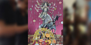 Durga Puja 2019: At This Unique Pandal In Delhi, Idols Are Made of 220 Kg Of Recycled Items And Decor With 250 Discarded Tin Cans