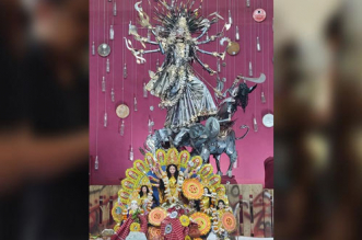 Durga Puja 2019: At This Unique Pandal In Delhi, Idols Are Made of 220 Kg Of Recycled Items And Decor With 250 Plastic Bottles