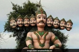 20-Feet Plastic Ravana Effigy Won't Burn, But Dismantled In Noida