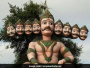 20-Feet Plastic Ravana Effigy Won't Burn, But Dismantled In Noida