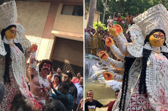 Delhi's Mini Bengal - Chittaranjan Park Bids Adieu To Goddess Durga In An Eco-Friendly Way