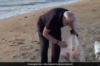 PM Modi Goes Plogging On Mamallapuram Beach Before The Meeting With Xi