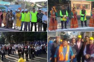 People Join Hands Against Single-Use Plastic In Dehradun, Form A 50 Km Long Human Chain To Raise Awareness