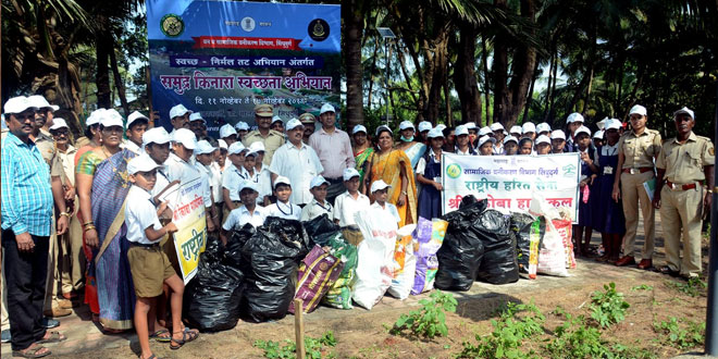 Students In 10 Coastal States Clean 50 Beaches Under Centre's Week Long Mass Clean Up Drive