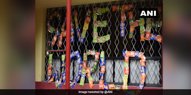 Students From Ambikapur's School Are Sending Empty Wrappers To Food Companies, Here's Why
