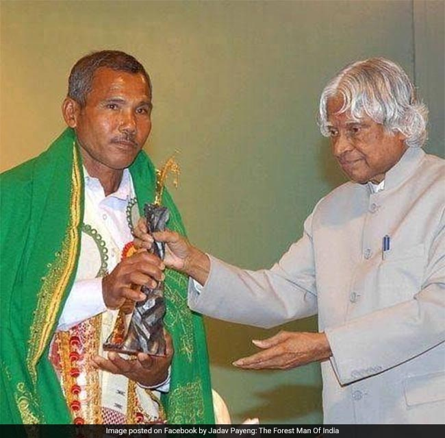 56 year-old Padma-Shree Awardee, Jadav Molai Payeng is a farmer from Assam's Jorhat who is also known as The Forest Man of India