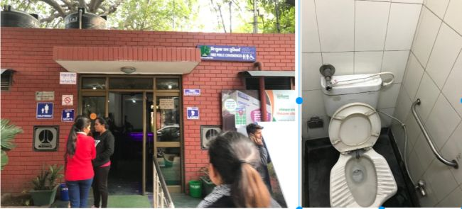 Toilet complex constructed in Khan Market is free to use