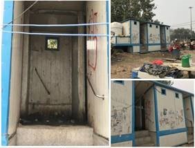 Toilets at ISBT station in Sarai Kale Khan in an unusable condition