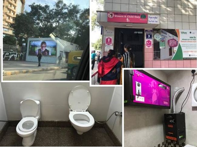 One of the pink toilets in Connaught Place