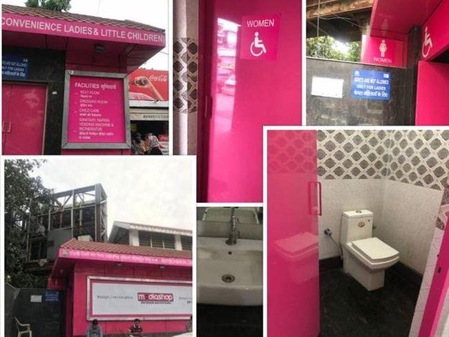 The pink toilet in Lajpat Nagar's Central Market