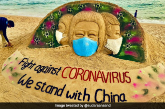 Coronavirus Outbreak: Sand Artist Sudarshan Pattnaik's Art Calls People To Support The Fight Against COVID-19