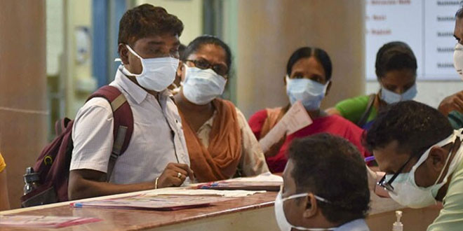If anyone is suspected with the virus should be reported at the dedicated helpline number at 011-23978046 or visit public health facility with a mask or mouth covered: Ministry of Health and Family Welfare