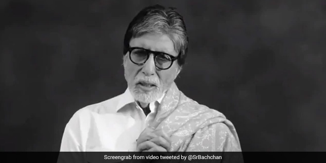 Amitabh Bachchan took to Twitter to share the clip giving out important dos and don'ts in times of the pandemic