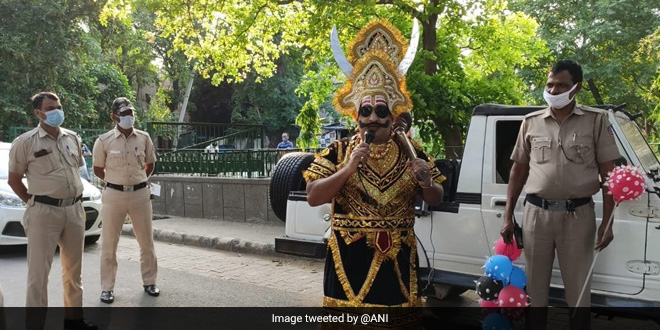 From Delhi, Andhra Pradesh To Bihar, 'Yamraj' Hits The Streets Of India To Create Awareness About Coronavirus