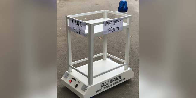 Robotic Device 'Carebot' To Promote Physical Distancing, Assist Healthcare Staff At COVID-19 Facility In Amritsar