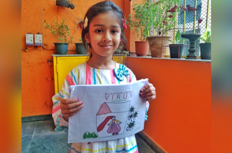 5-Year-Old Delhi Girl Illustrates A Book On Coronavirus, Raises Rs. 1 Lakh To Help The Poor During Lockdown