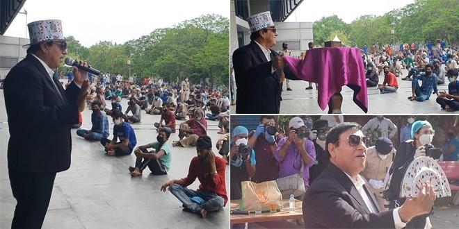Coronavirus Lockdown: Meet The Magician Who Is Raising Awareness About COVID-19 Through his Magic In Delhi