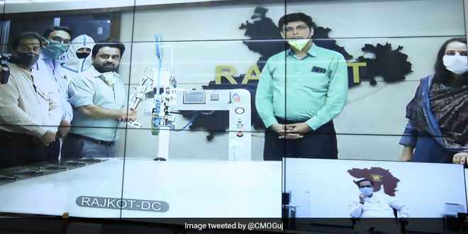 Gujarat Chief Minister Launches India's First Personal Protective Equipment Kit Seam Sealing Machine In Rajkot