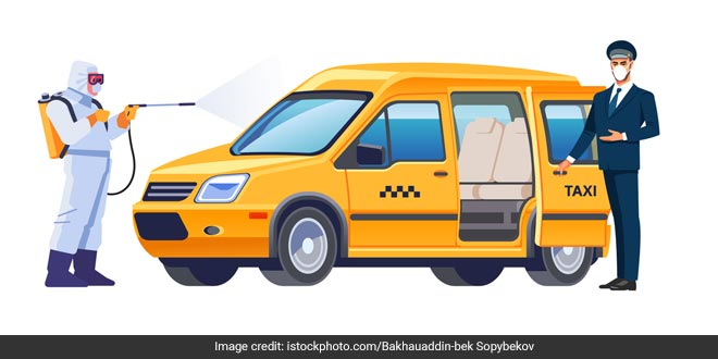 Sanitised Airport-Authorised Taxis Offer Safer Travel Option For Passengers At Hyderabad Airport