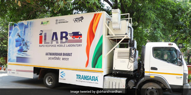 Union Minister Harsh Vardhan Launched India's First Mobile Lab For COVID-19 Testing