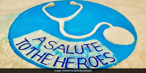 National Doctor's Day 2020: A Sand Art Salute To The 'Superheroes' For Their Selfless Service
