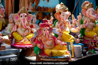 Corona Warriors Theme-Based Idols Of Lord Ganesha Installed In Hyderabad