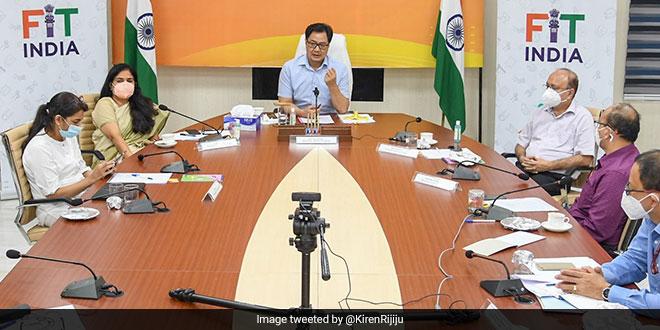 Union Minister Kiren Rijiju Calls Upon Celebrities, Corporates, Athletes To Revolutionise Fit India Movement