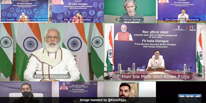 Prime Minister Narendra Modi Launches Age Appropriate Fitness Protocols During Fit India Dialogue