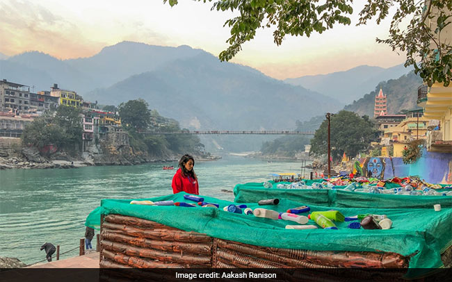 Plastic Is Killing Humanity, With This Message, Deathbeds Made Out Of Single-use Plastic Have Been Installed In Rishikesh